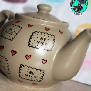 Hand Drawn Teapot by Charlotte Kleban Hand Drawn World. Great gift idea.
