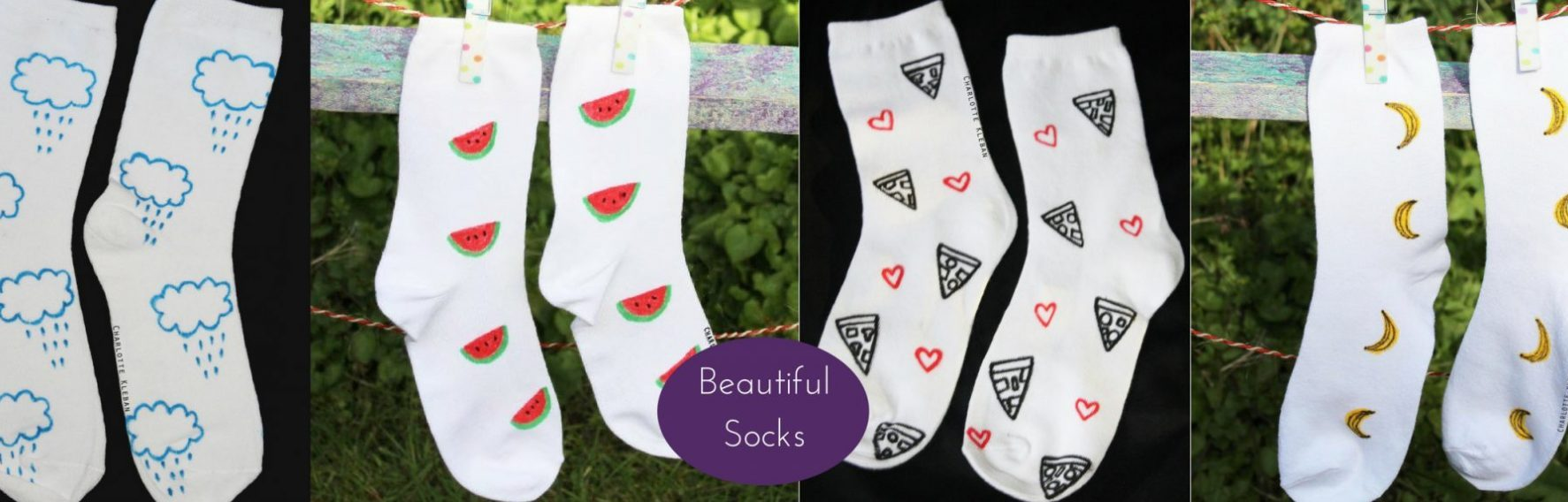 Hand Drawn World By Charlotte Kleban Socks