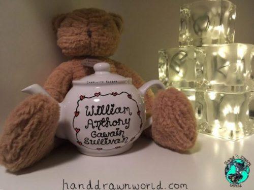 Hand Drawn New Baby Teapot by Charlotte Kleban Hand Drawn World. Great gift idea