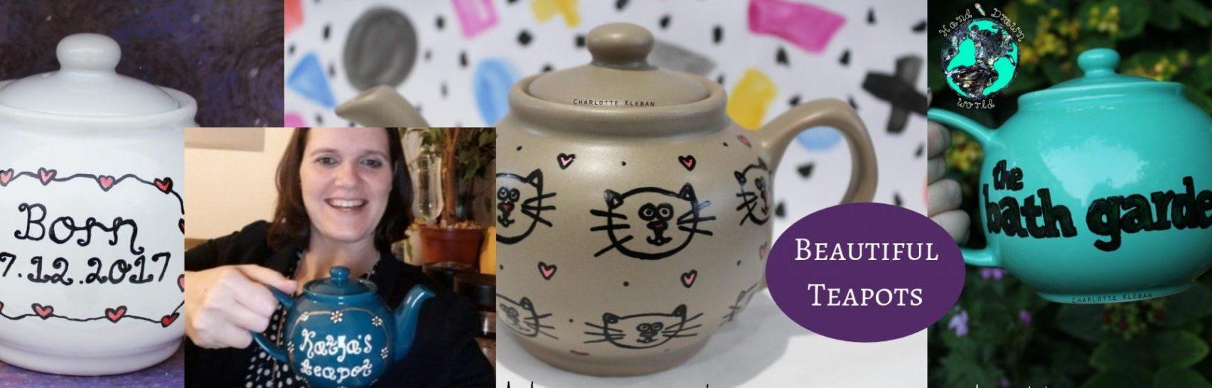 Hand Drawn World By Charlotte Kleban teapots - great gift ideas